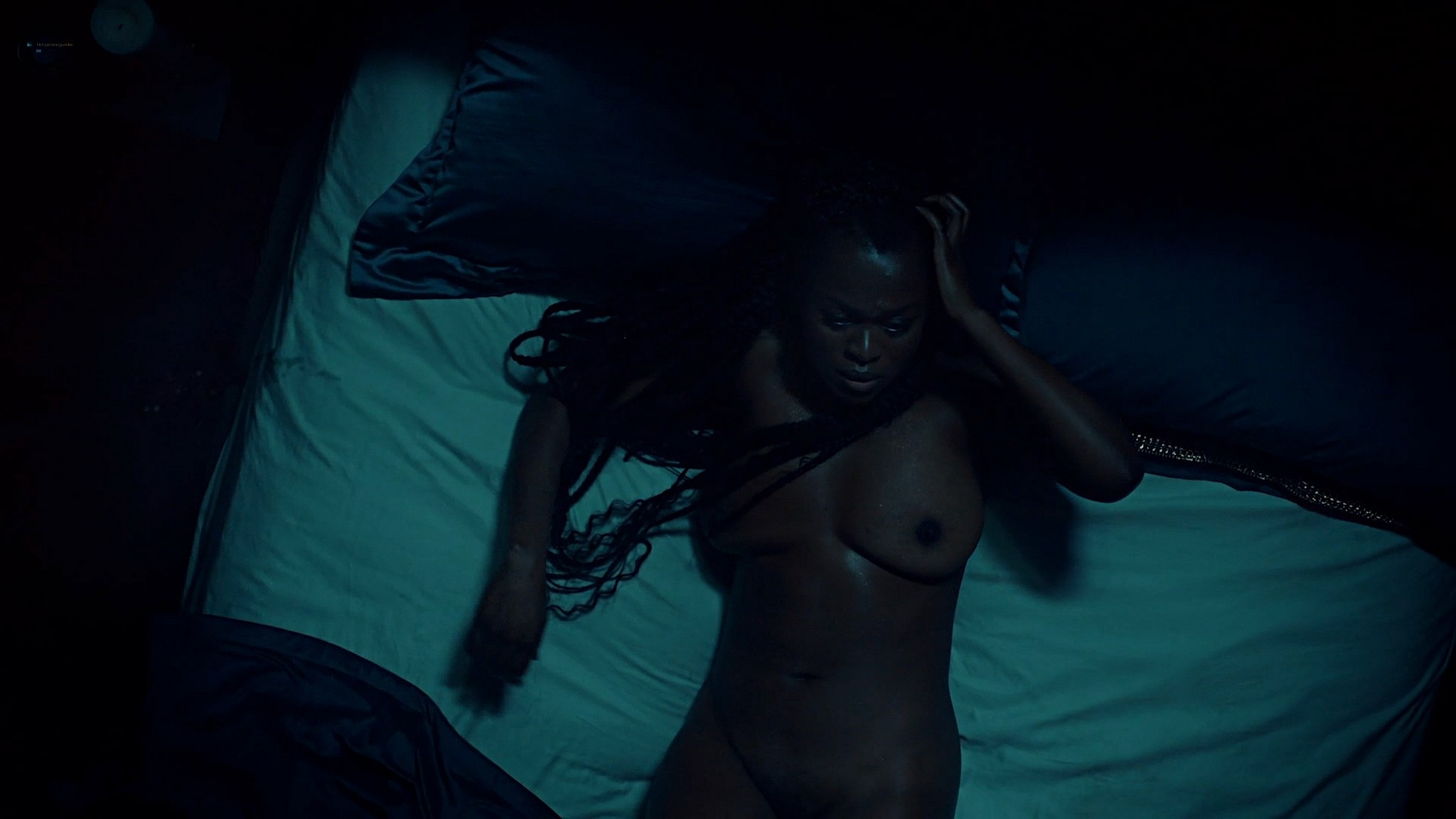 Yetide Badaki nude bush and topless American Gods 2020 s3e2 HD 1080p 13