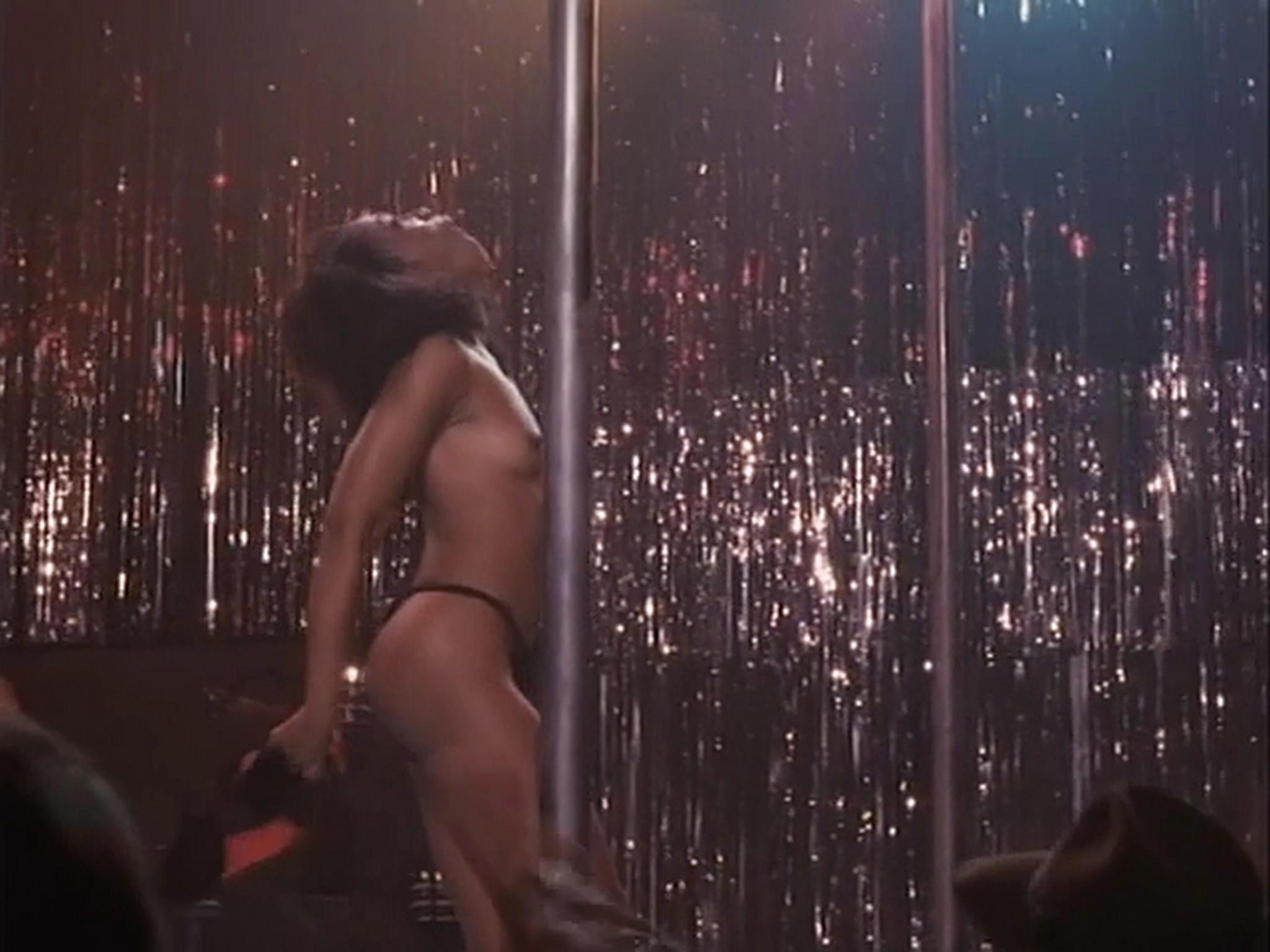 Barbara Alyn Woods nude Catya Sassoon Jill Pierce nude too as strippers Dance with Death 1991 10