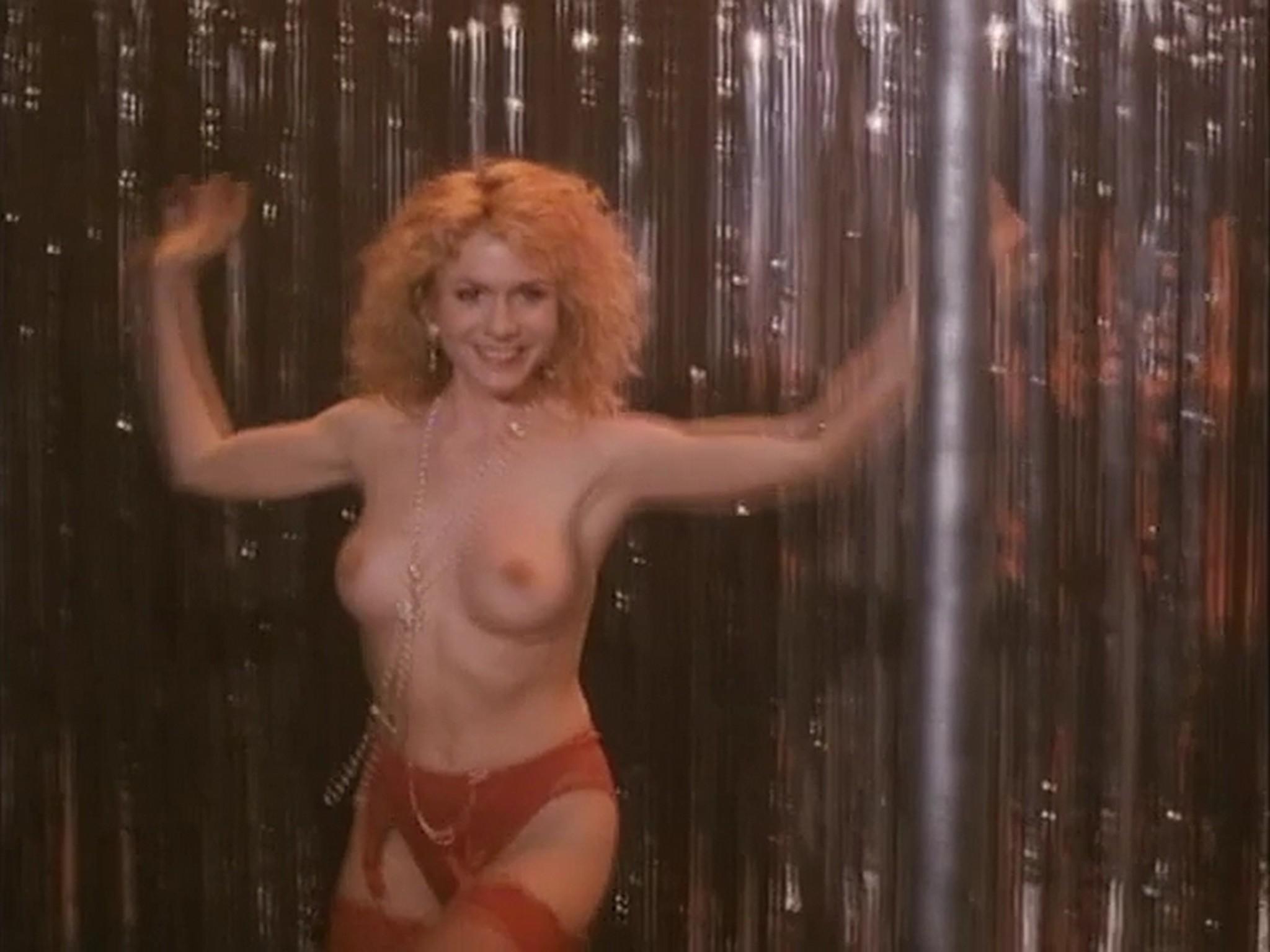 Barbara Alyn Woods nude Catya Sassoon Jill Pierce nude too as strippers Dance with Death 1991 11