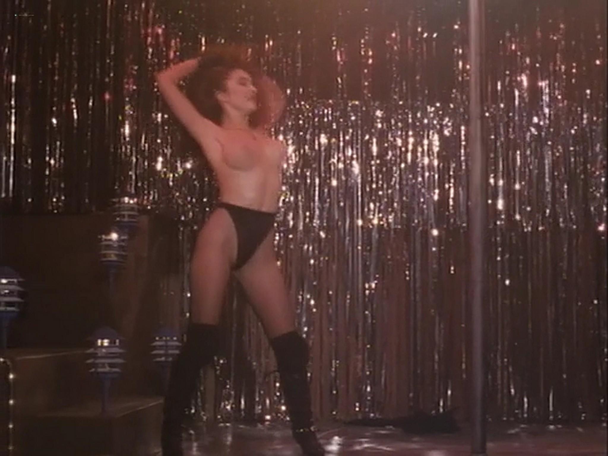 Barbara Alyn Woods nude Catya Sassoon Jill Pierce nude too as strippers Dance with Death 1991 12