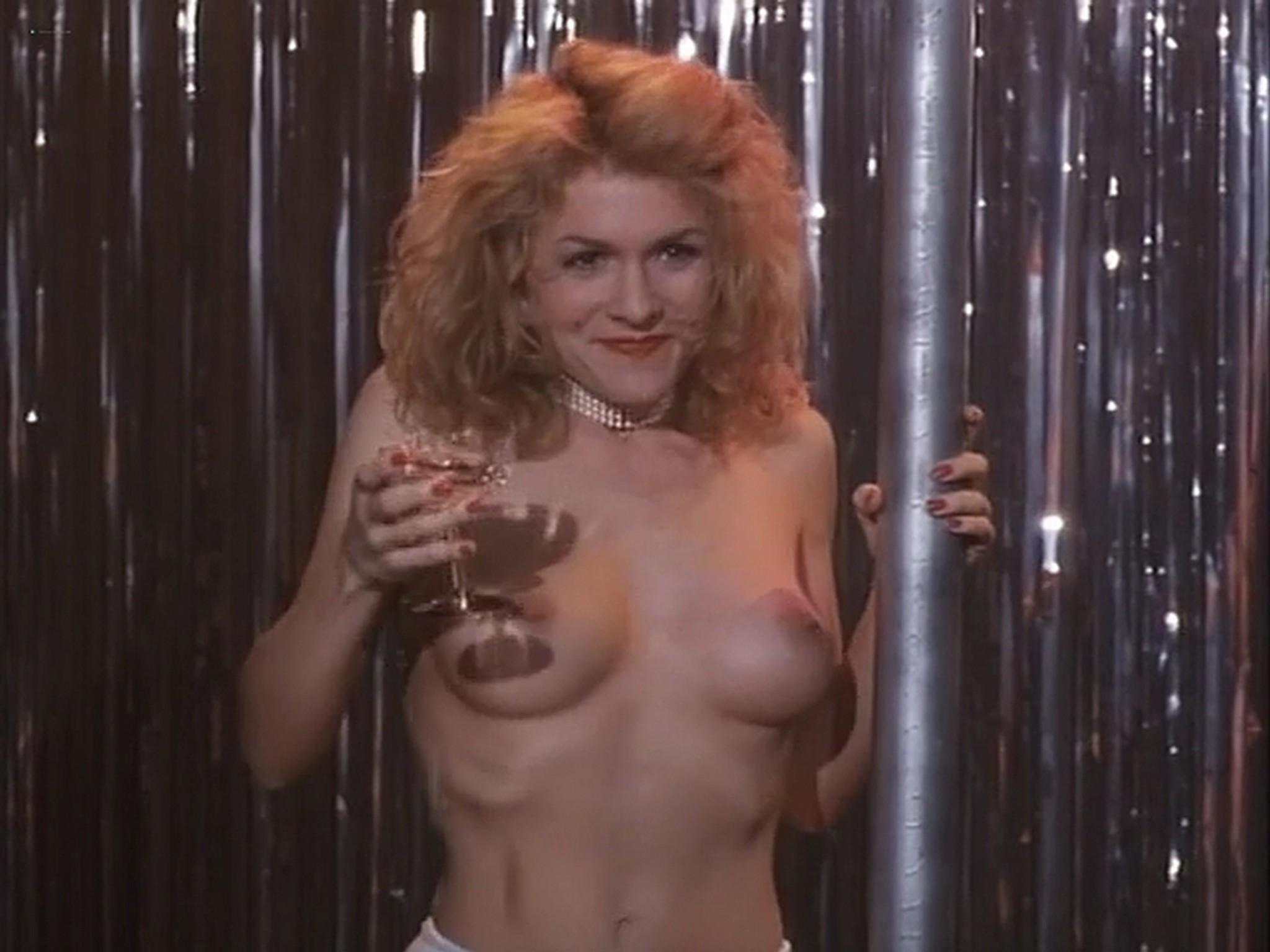 Barbara Alyn Woods nude Catya Sassoon Jill Pierce nude too as strippers Dance with Death 1991 17