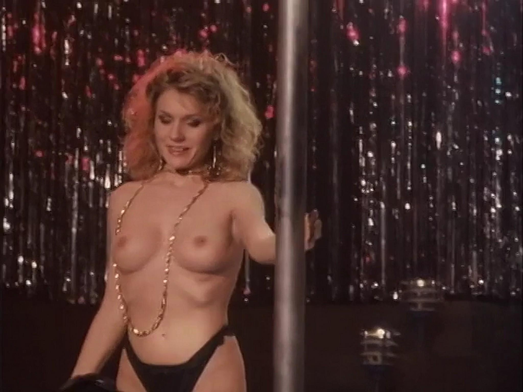 Barbara Alyn Woods nude Catya Sassoon Jill Pierce nude too as strippers Dance with Death 1991 9