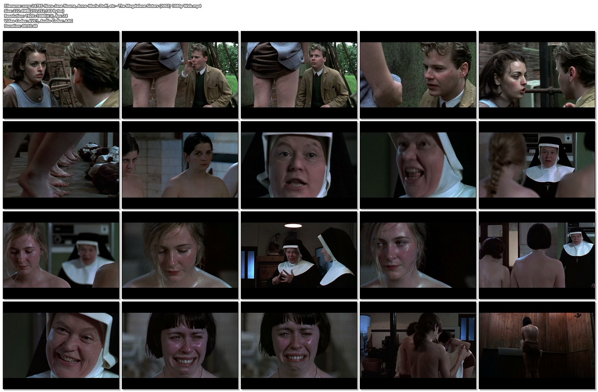 Nora Jane Noone nude full frontal Anne Marie Duff and another full frontal too The Magdalene Sisters 2002 1080p Web 15