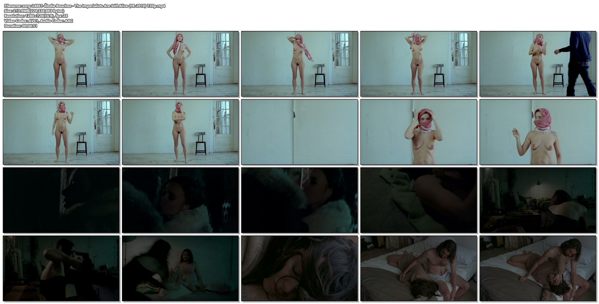 Elodie Bouchez nude full frontal The Imperialists Are Still Alive FR 2010 720p web 12