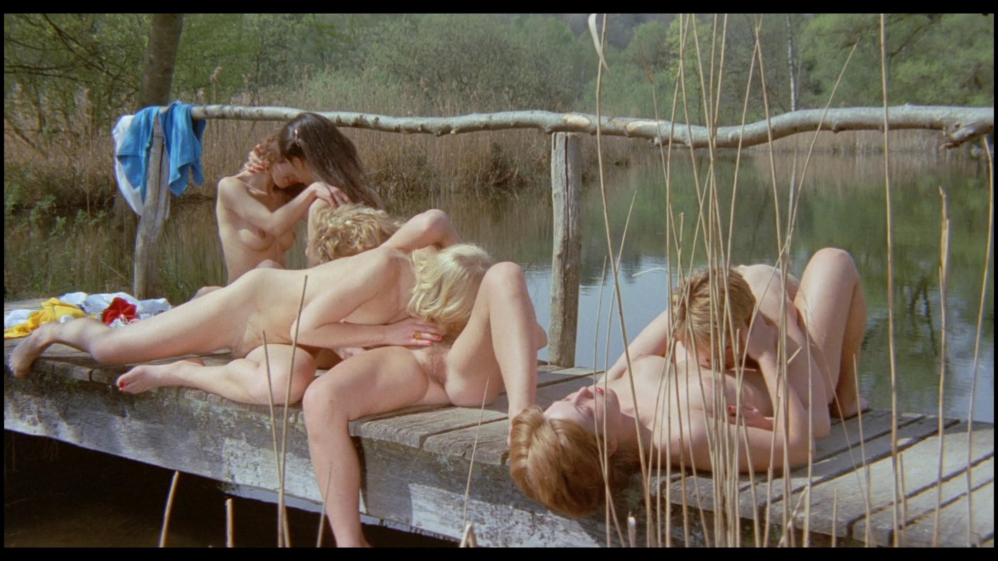 Marianne Aubert Michaela Larsen etc nude explicit sex Sechs Schwedinnen auf der Alm 1983 1080p BluRay 18