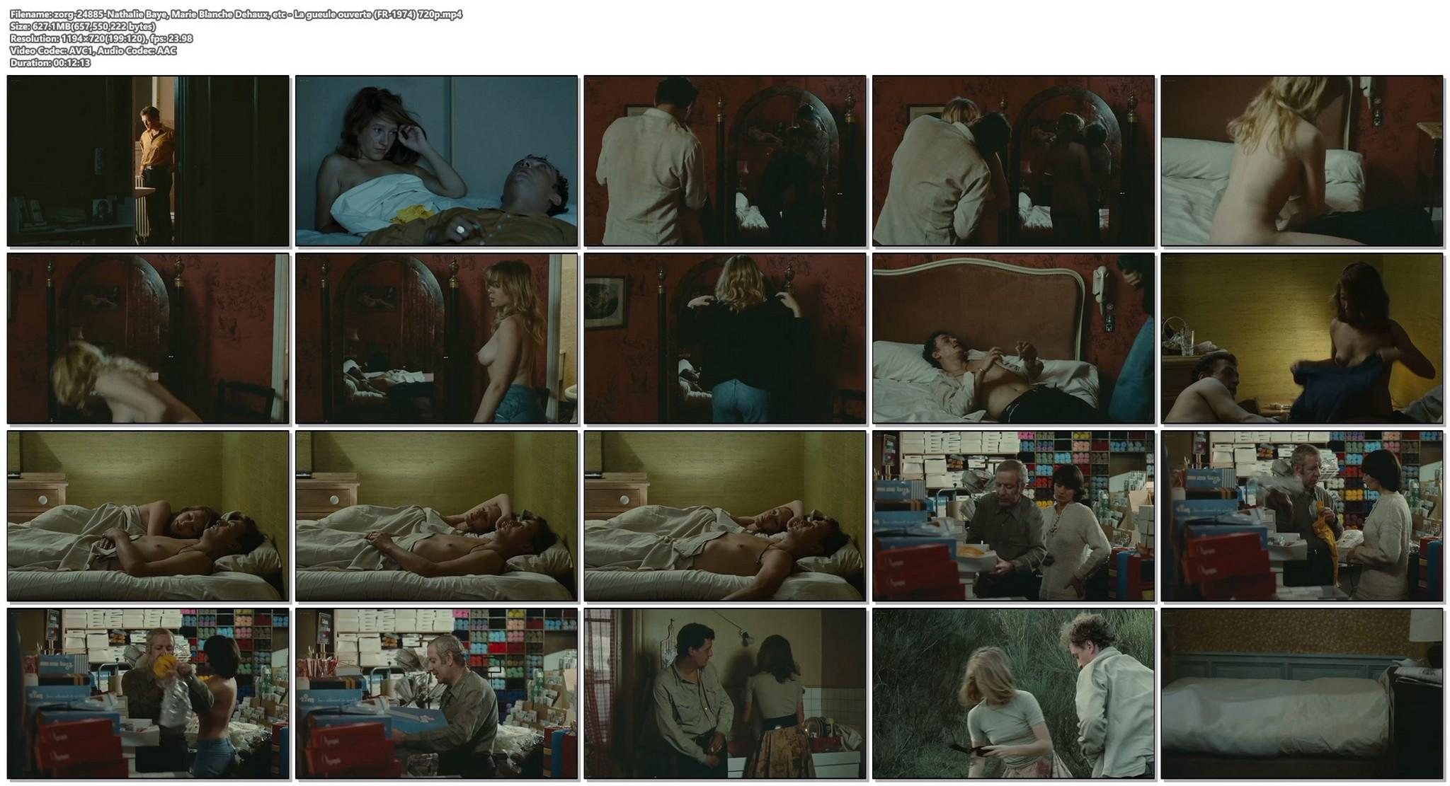 Nathalie Baye nude Marie Blanche Dehaux full frontal etc La gueule ouverte FR 1974 720p 18