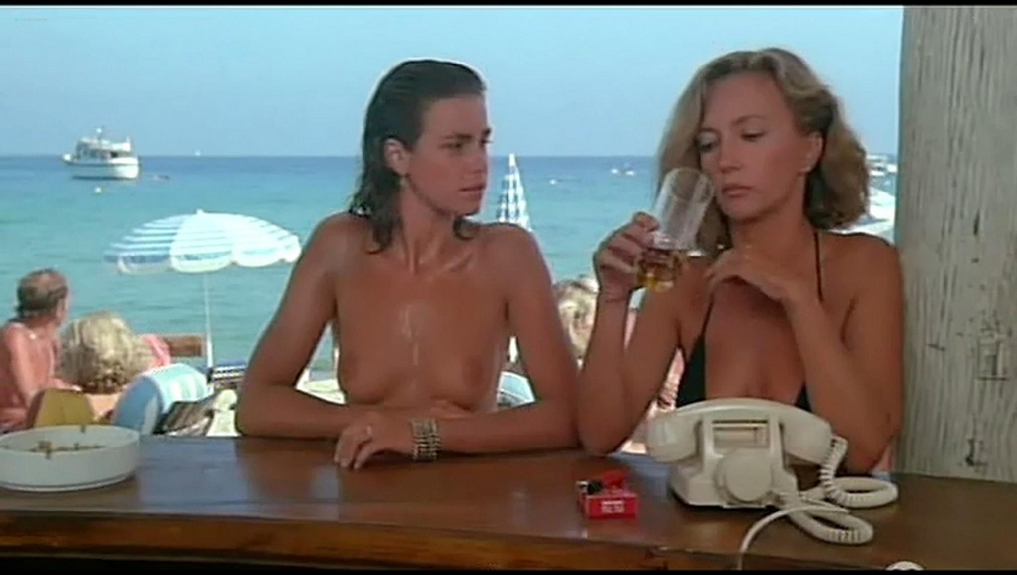 Valerie Kaprisky nude full frontal Caroline Cellier and others nude L annee des meduses 1984 24
