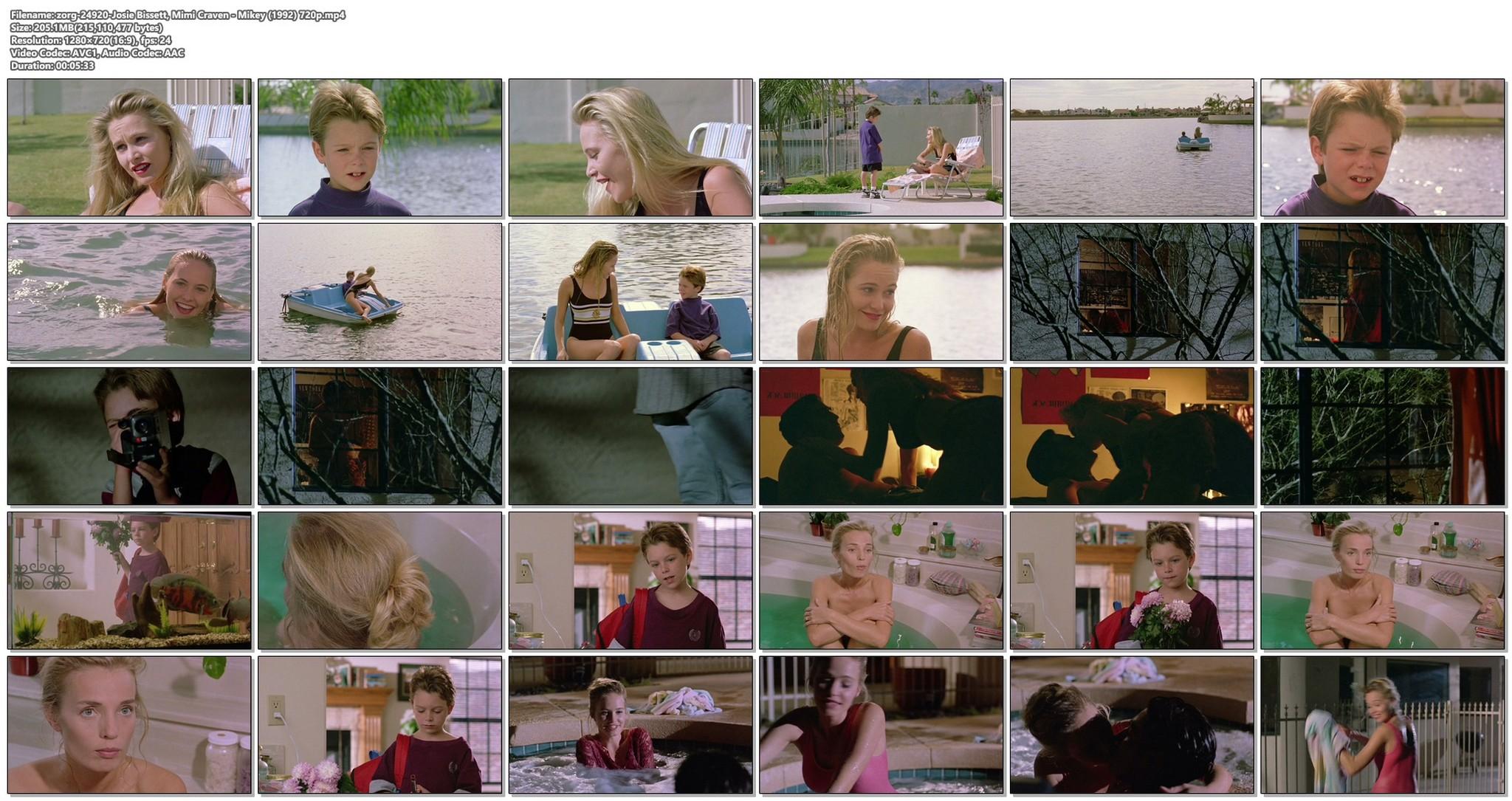 Josie Bissett sexy Mimi Craven nude topless Mikey 1992 720p 16