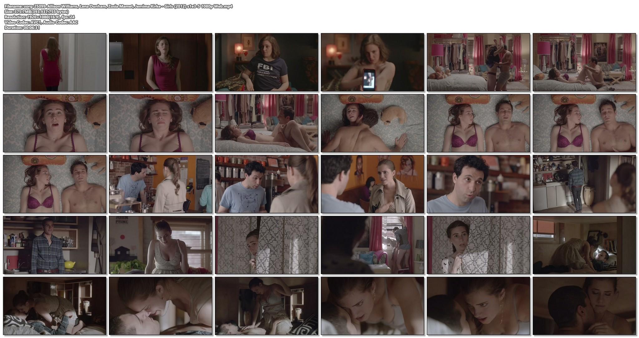 Allison Williams sex Lena Dunham nude Zosia Mamet Jemima Kirke sex Girls 2012 s1e3 5 1080p Web 19