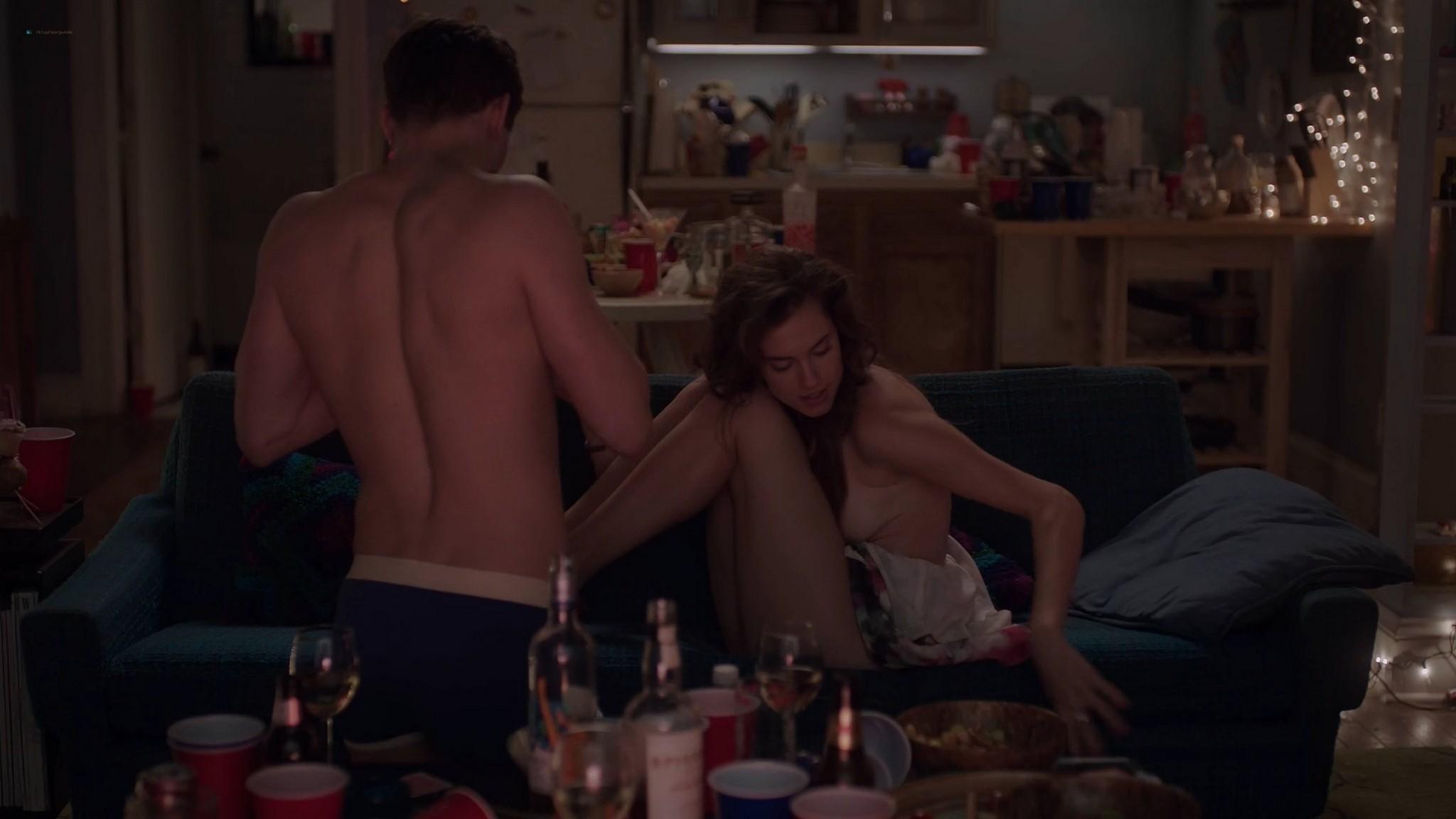 Allison Williams sex Lena Dunham nude Zosia Mamet hot Jemima Kirke nude Girls 2012 s2e1 5 1080p Web 3
