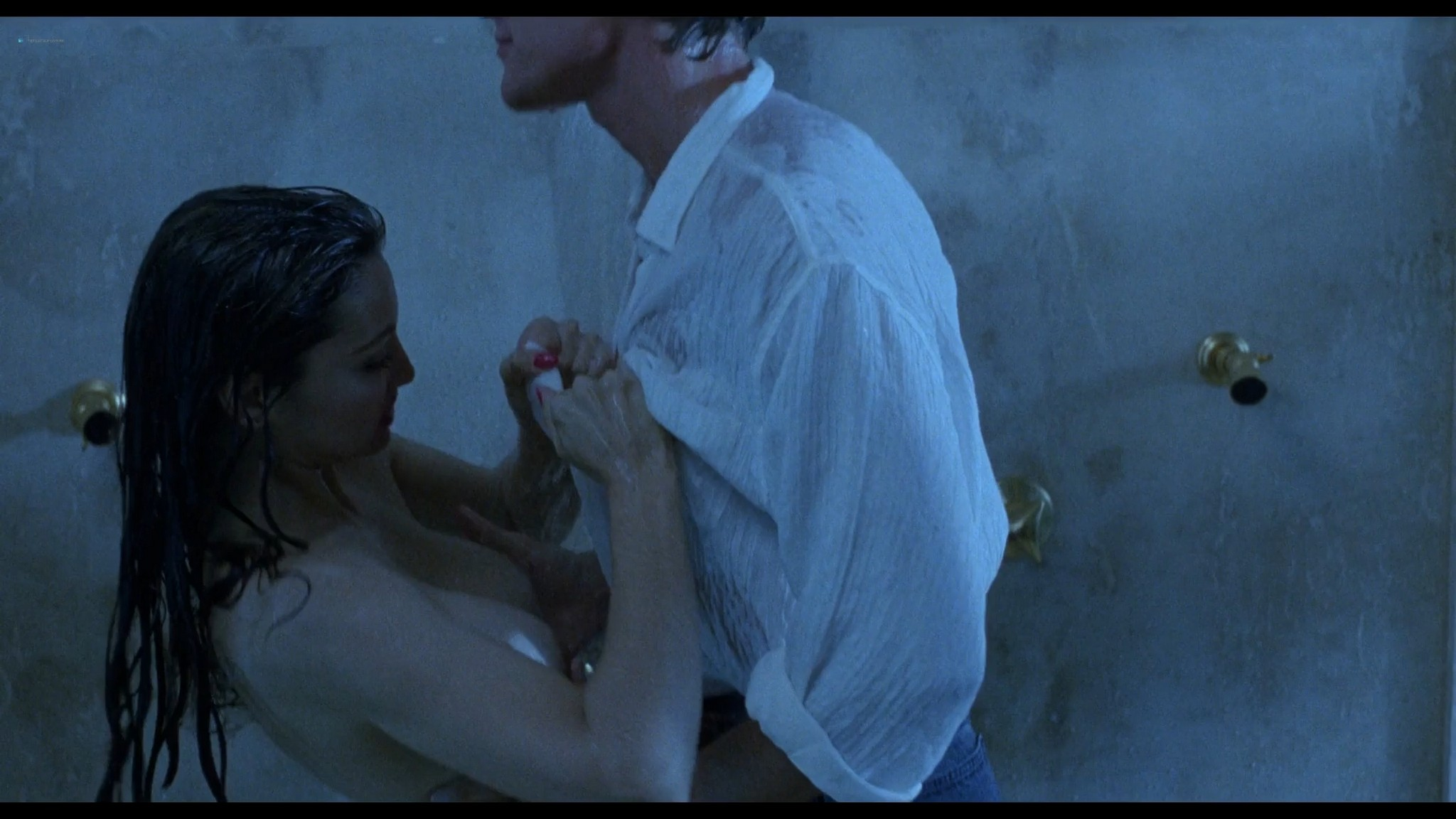 Shannon Tweed nude sex Adrienne Sachs nude sex in the shower In the Cold of the Night 1989 1080p BluRay 10