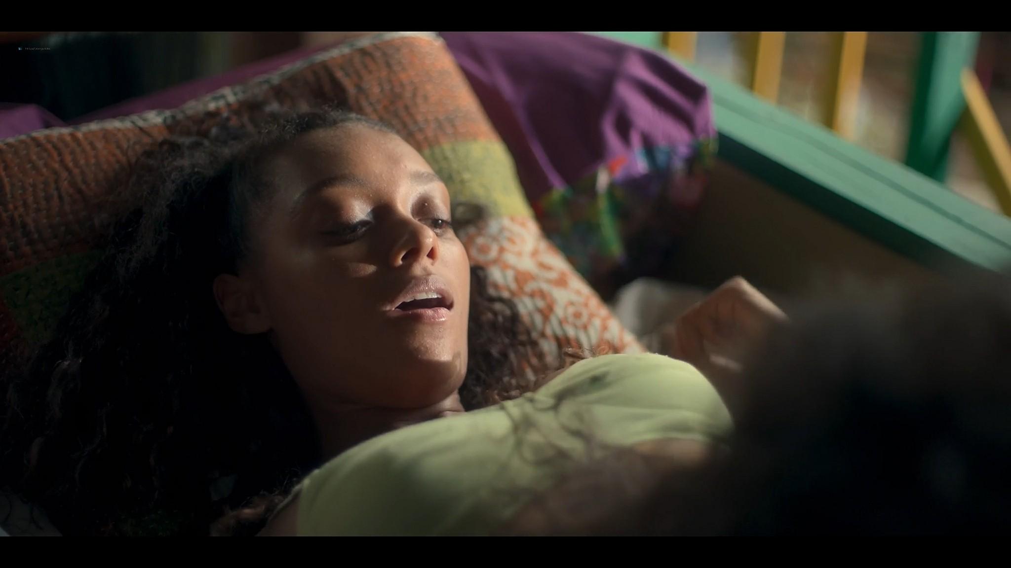 BeBe Bettencourt sexy Sophie Wilde Priscilla Doueihy hot lesbian sex Eden AU 2021 s1e4 8 1080p Web 12