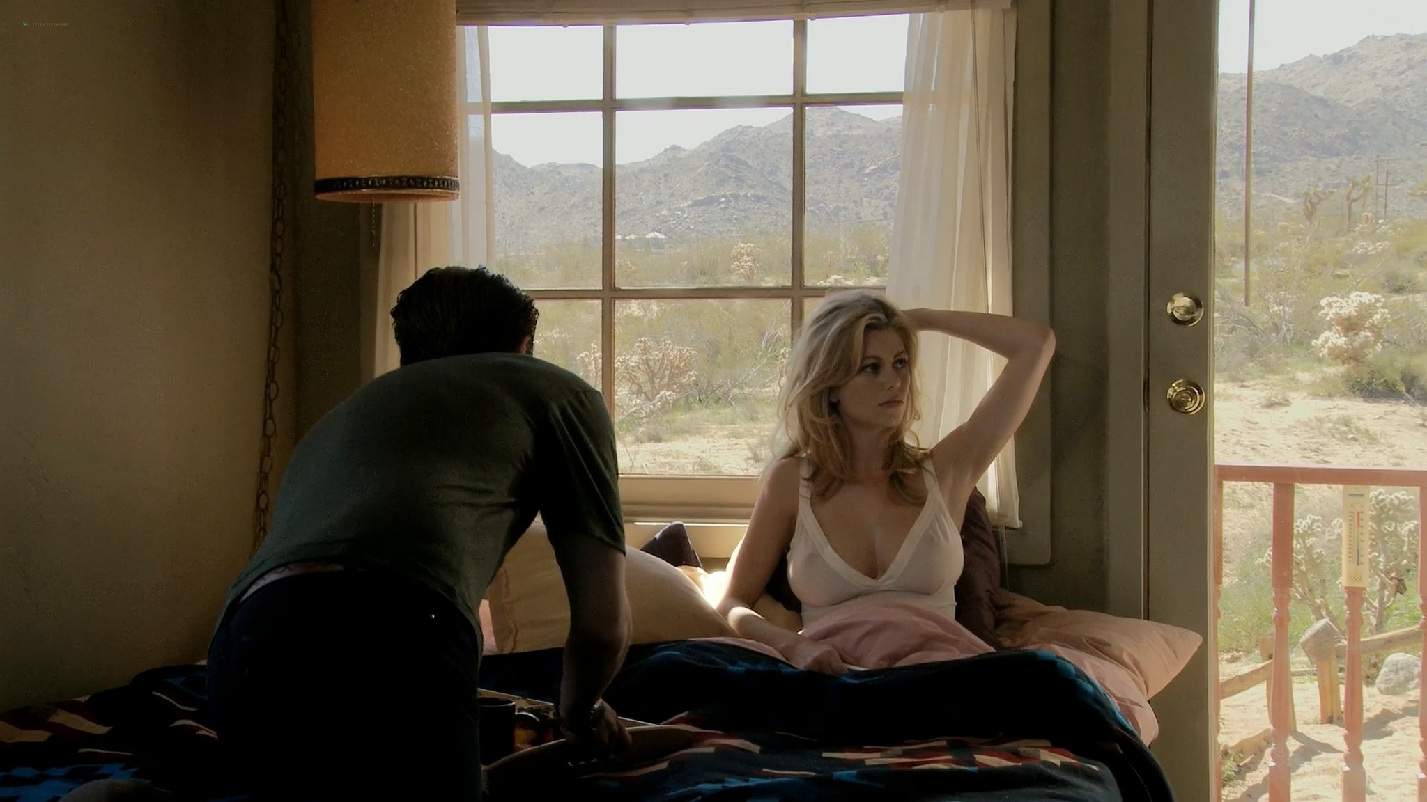 Diora Baird nude busty topless in the shower Quit 2010 1080p Web 9
