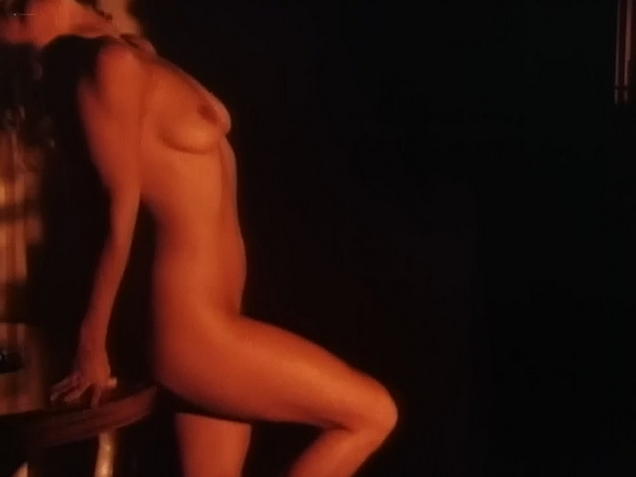 Kim Evenson nude full frontal Monique Gabrielle Sylvia Kristel all nude bush and full frontal The Big Bet 1985 DVDRip 19