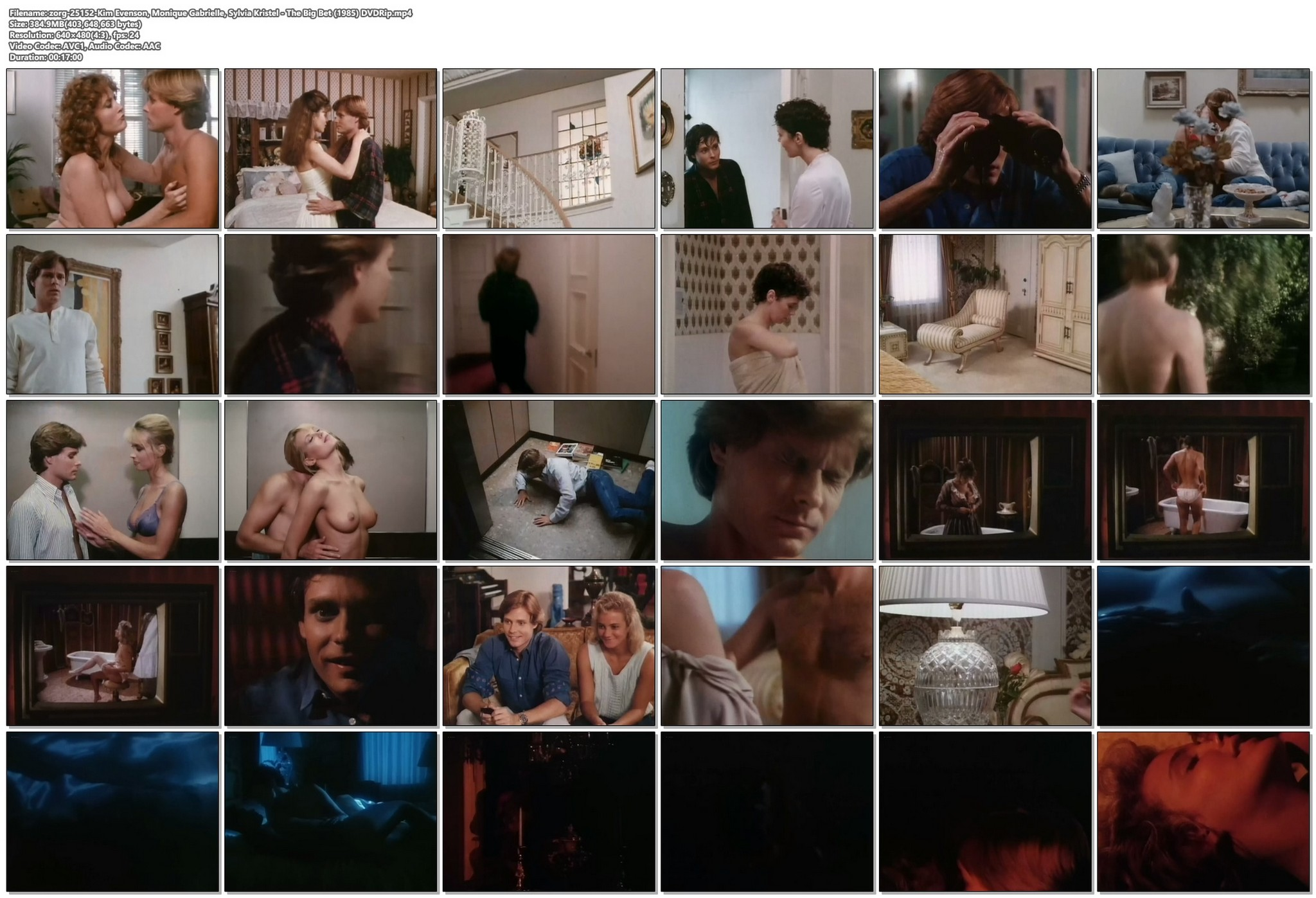 Kim Evenson nude full frontal Monique Gabrielle Sylvia Kristel all nude bush and full frontal The Big Bet 1985 DVDRip 20