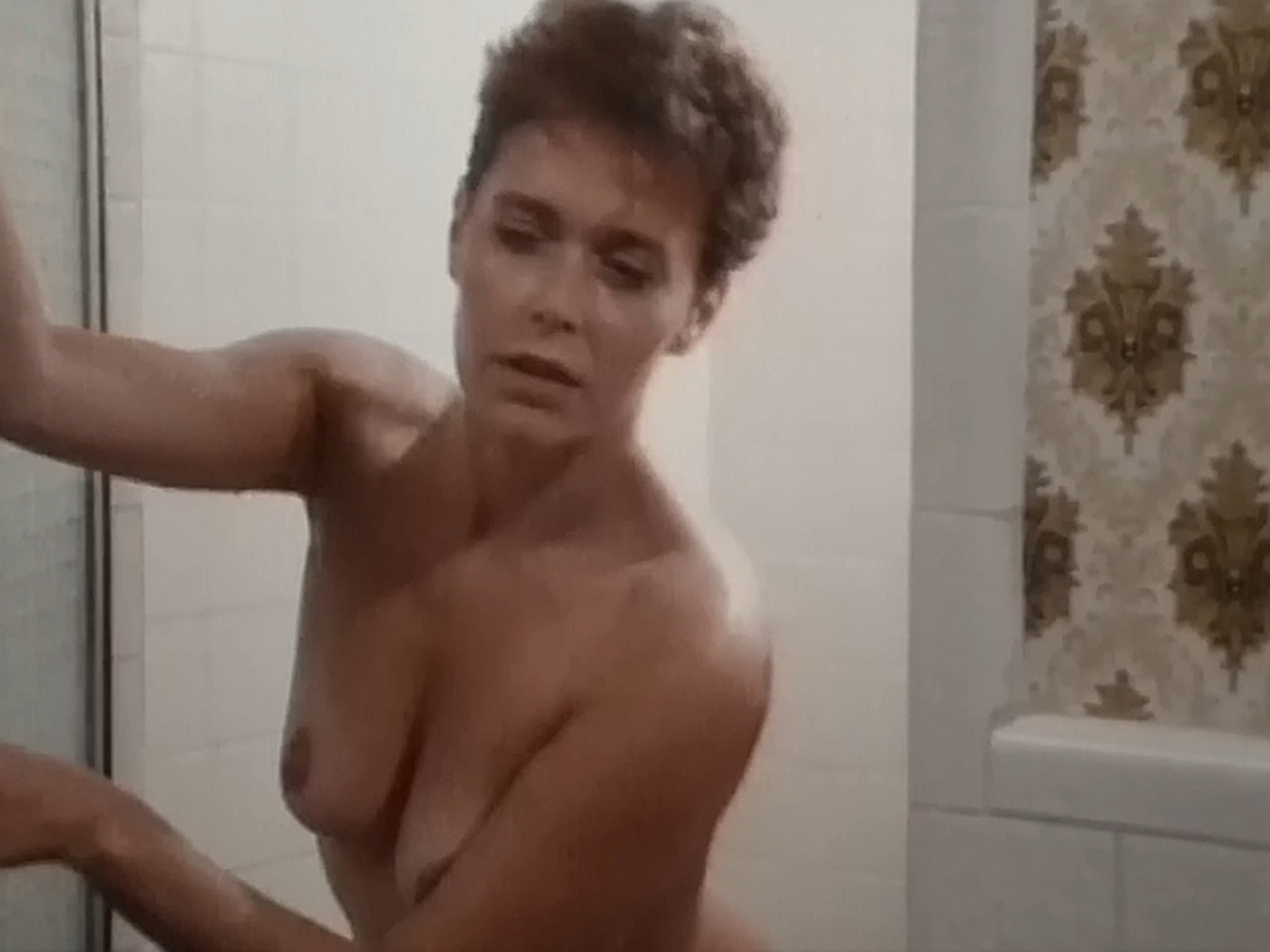 Kim Evenson nude full frontal Monique Gabrielle Sylvia Kristel all nude bush and full frontal The Big Bet 1985 DVDRip 9