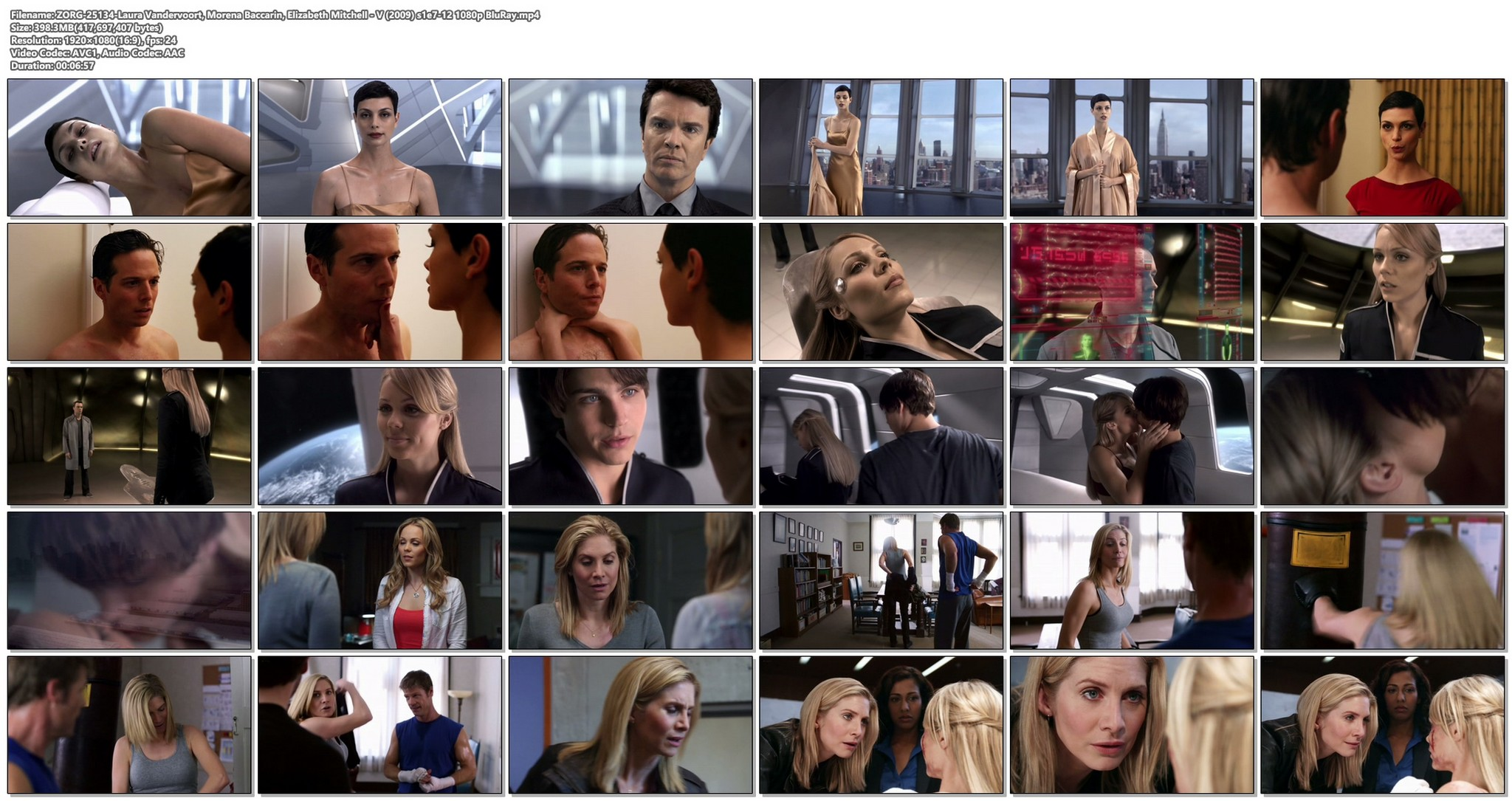 Laura Vandervoort hot and sex Morena Baccarin Elizabeth Mitchell sexy V 2009 s1e7 12 1080p BluRay 19