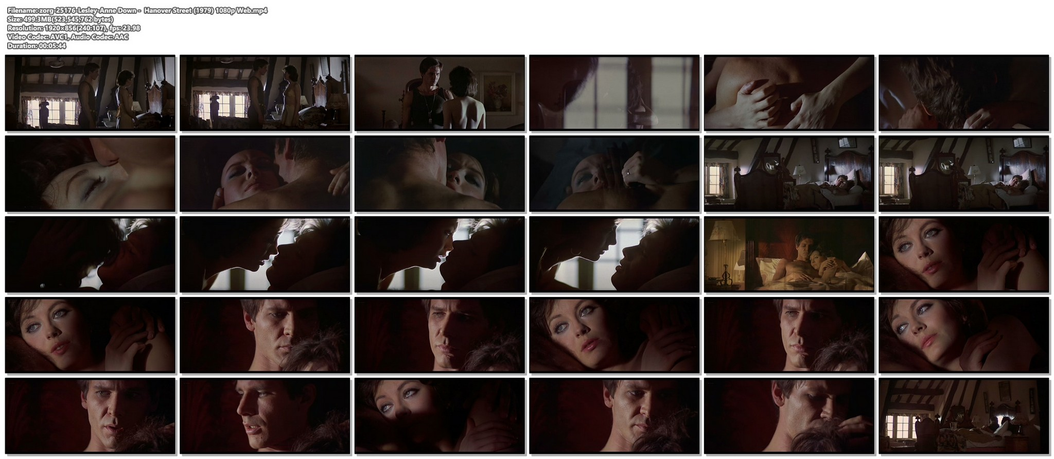 Lesley Anne Down nude topless and sex Hanover Street 1979 1080p Web 10