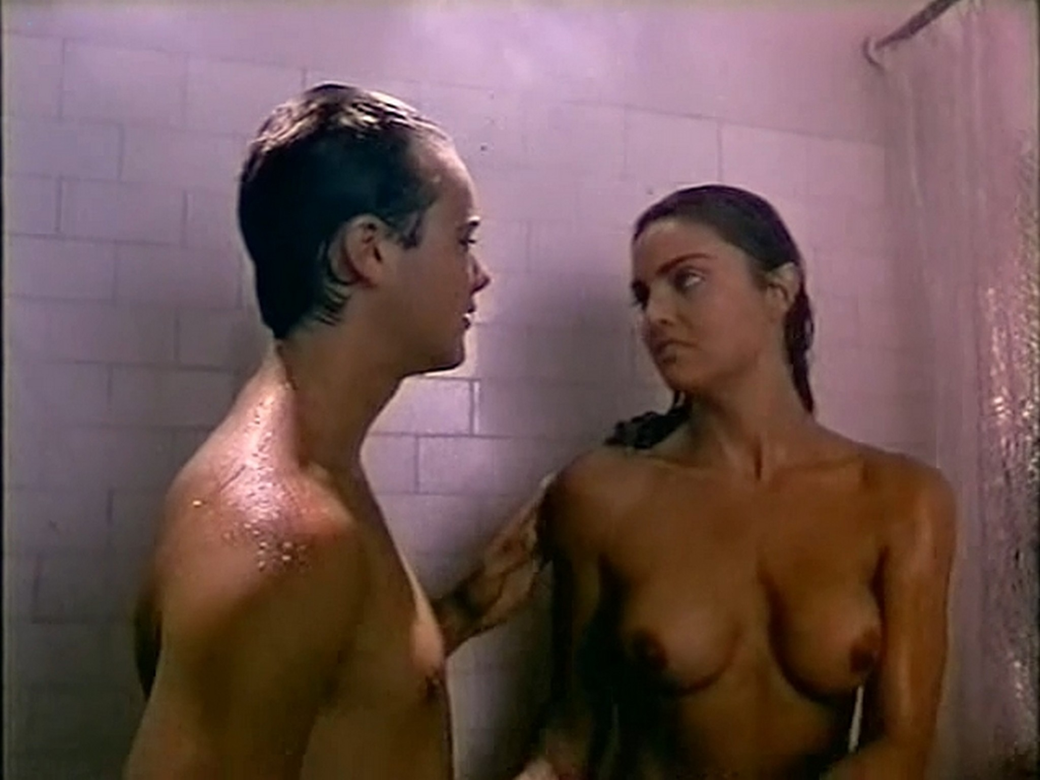 Tracy Scoggins nude in the shower The Gumshoe Kid 1990 DVDRip 10