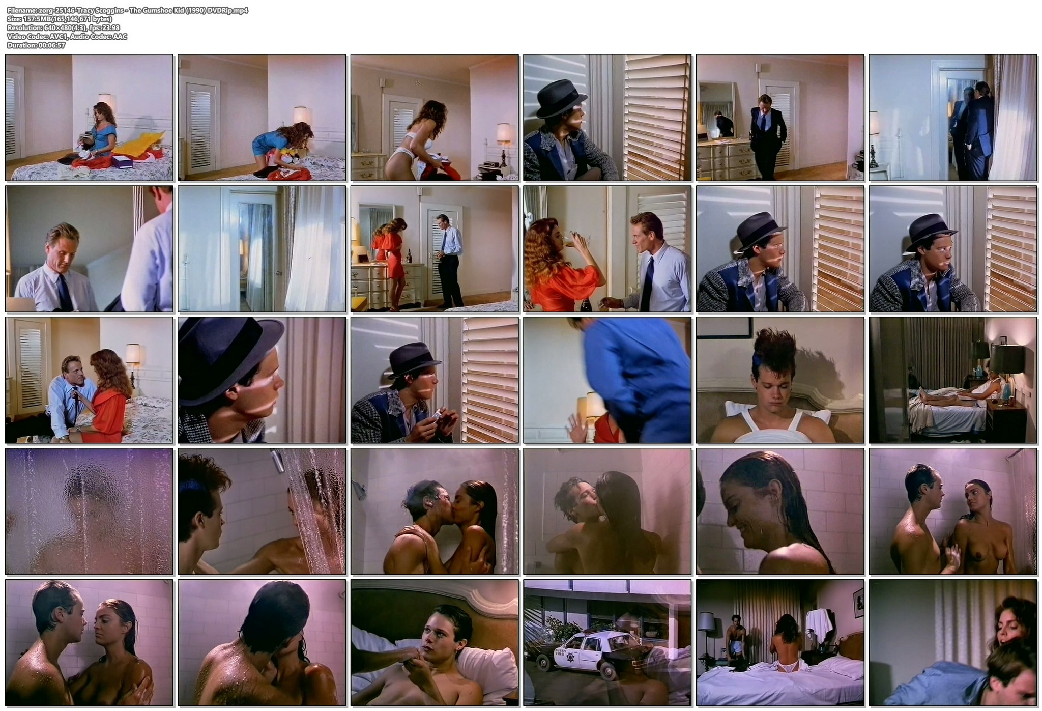 Tracy Scoggins nude in the shower The Gumshoe Kid 1990 DVDRip 14
