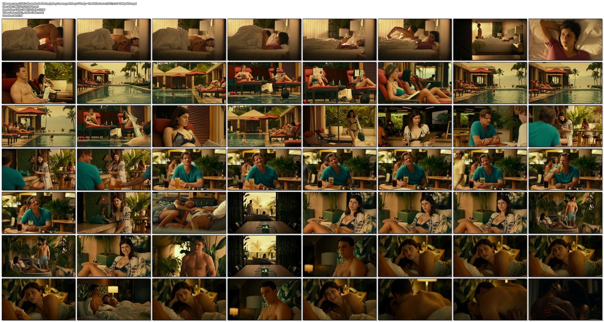 Alexandra Daddario sexy Sydney Sweeney Brittany OGrady hot The White Lotus 2011 s1e3 1080p Web 19