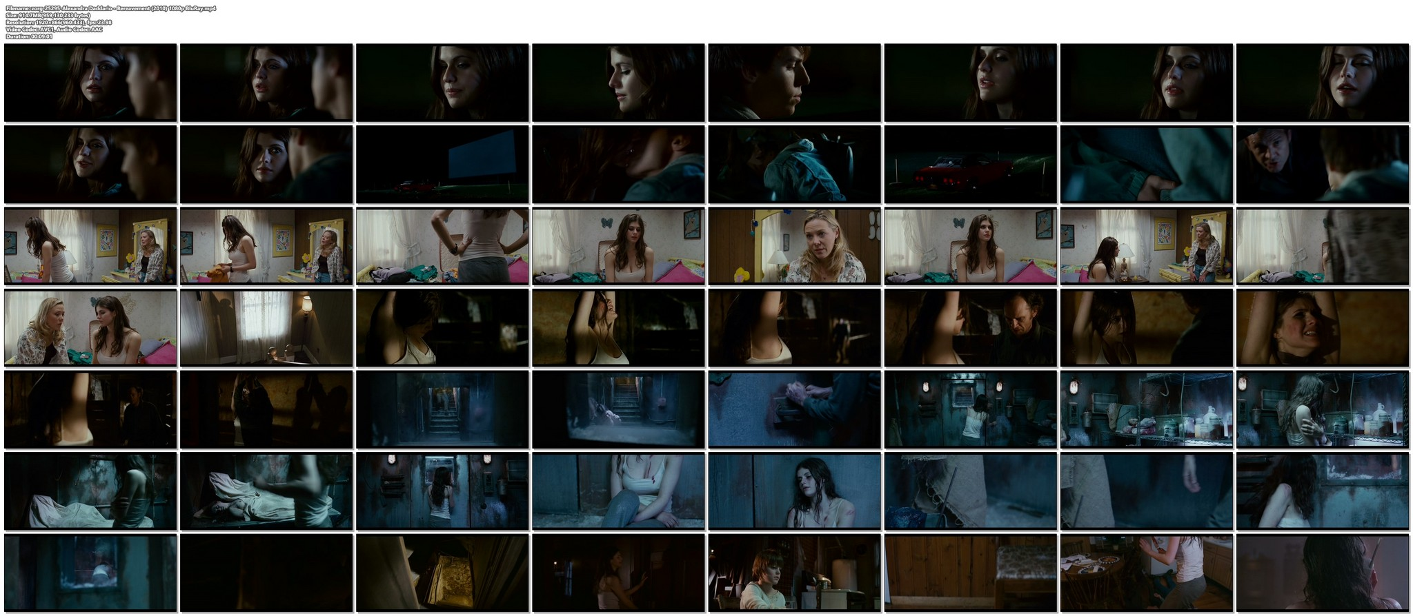 Alexandra Daddario hot sexy and see through from Bereavement 2010 HD 1080p BluRay 19