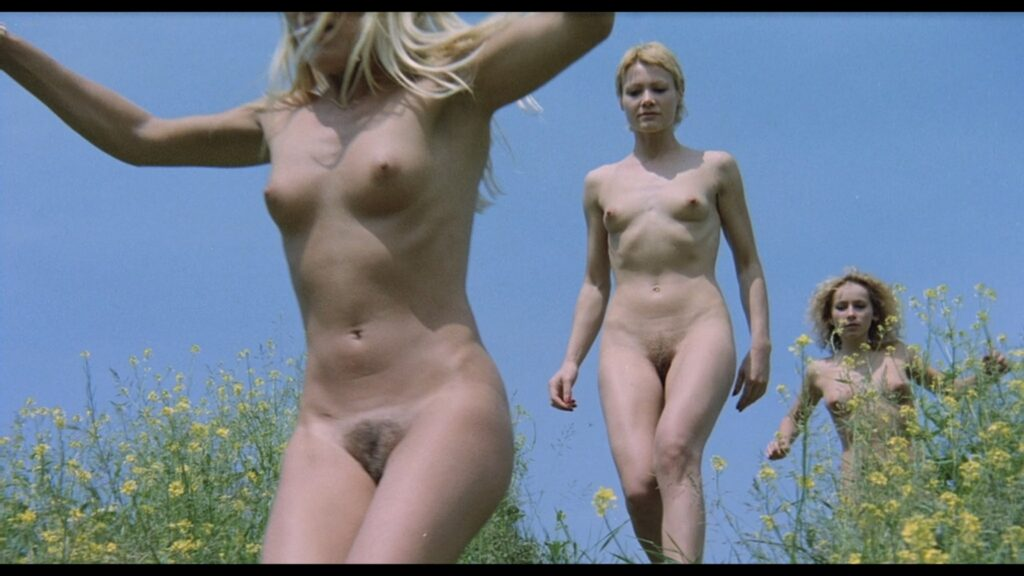 Brigitte Lahaie nude labia and sex Nadine Pascal and others nude full frontal Sechs Schwedinnen im Pensionat 1979 1080p BluRay 12
