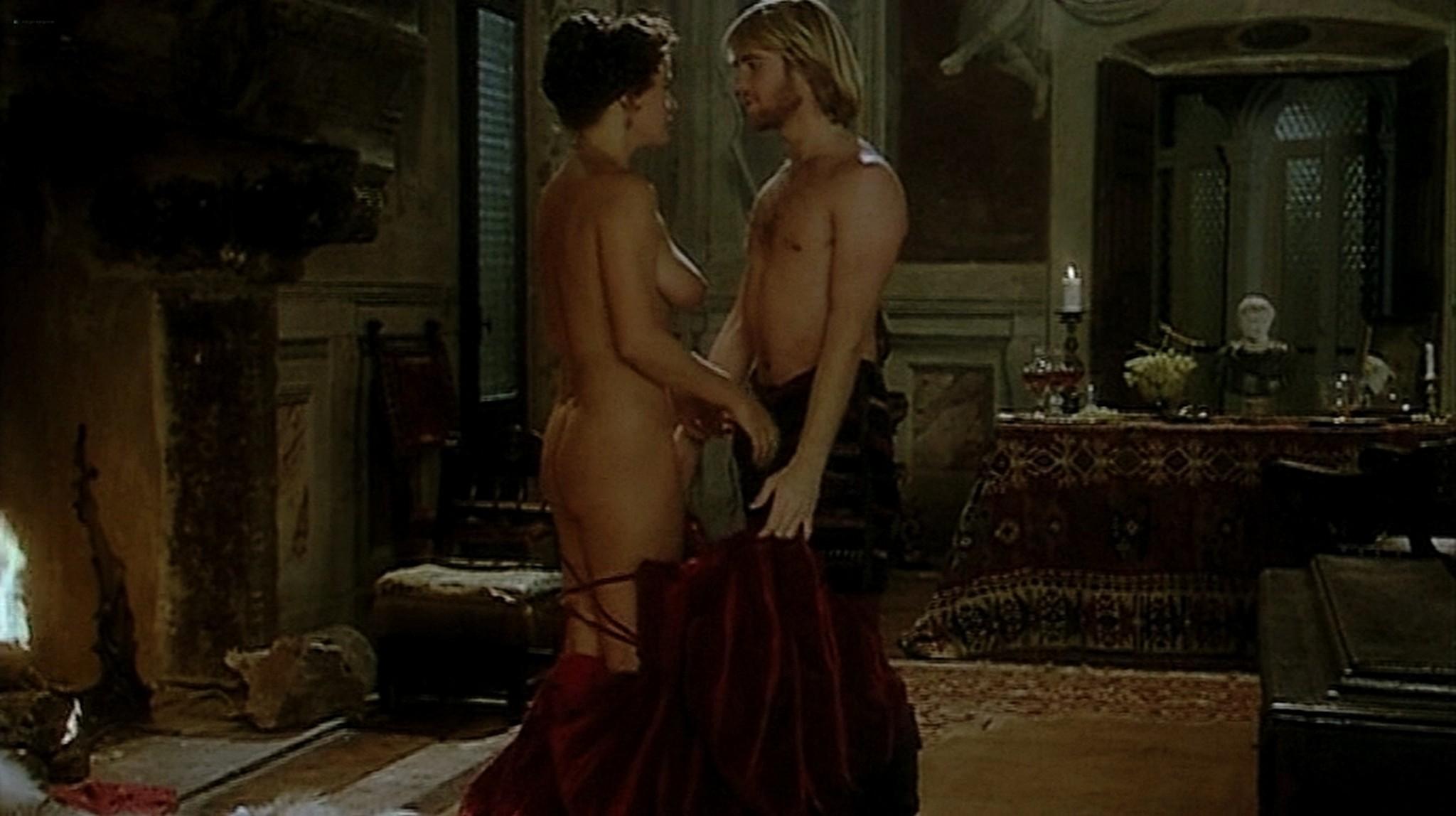 Laura Antonelli nude topless and sex Monica Guerritore nude topless and Clelia Rondinella nude lesbian sex La Venexiana 1986 DVDRip 7