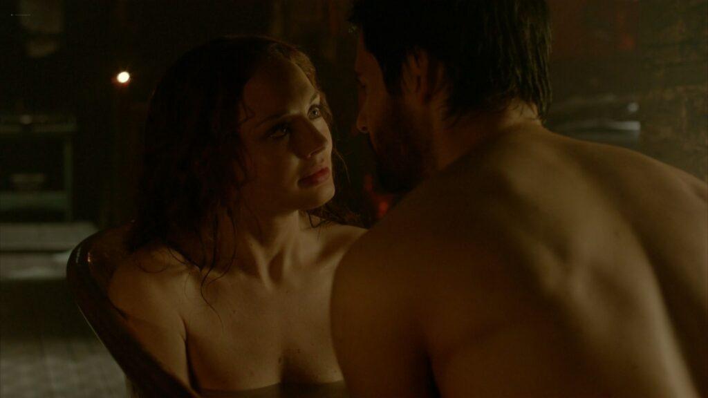 Laura Haddock nude full frontal bush and sex Da Vincis Demons 2013 S1 1080p BluRay 19