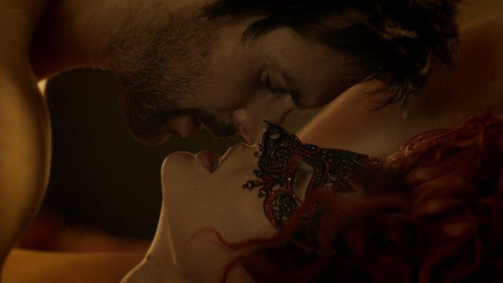 Laura Haddock nude full frontal bush and sex Da Vincis Demons 2013 S1 1080p BluRay 2