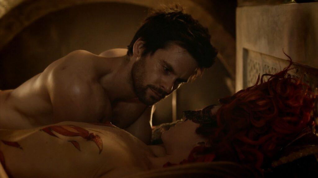 Laura Haddock nude full frontal bush and sex Da Vincis Demons 2013 S1 1080p BluRay 3