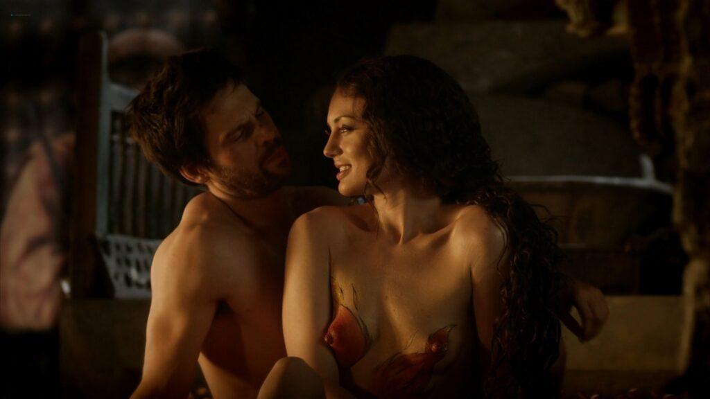 Laura Haddock nude full frontal bush and sex Da Vincis Demons 2013 S1 1080p BluRay 4