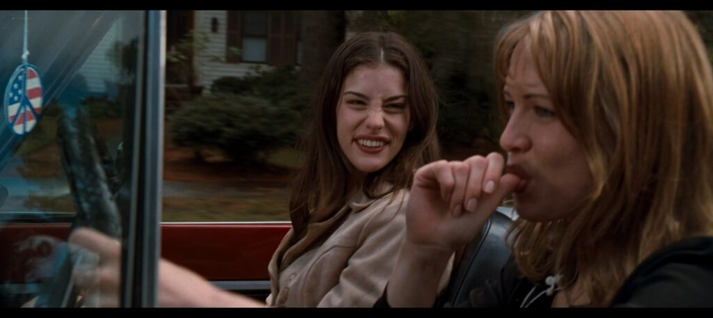 Liv Tyler hot striping to bra and undies and Renee Zellweger hot Empire Records 1995 1080p BluRay REMUX 7