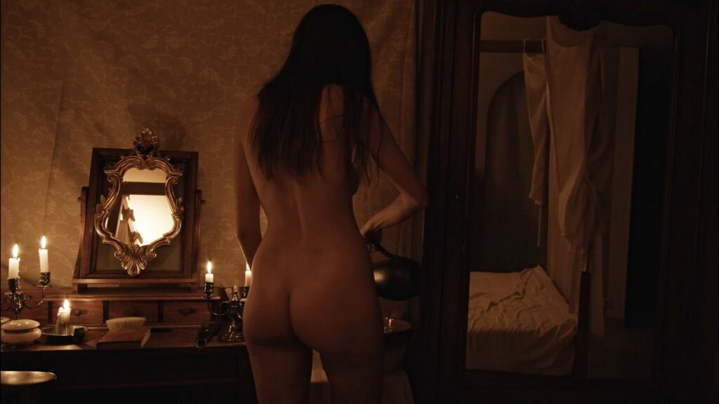 Laura Houvenagel nude full frontal butt and topless The Book of Antichrist 2021 1080p 11