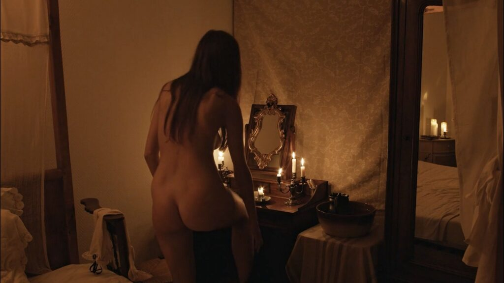 Laura Houvenagel nude full frontal butt and topless The Book of Antichrist 2021 1080p 5