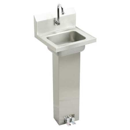 wall mount 1 hole foot pedal stainless steel hand sink