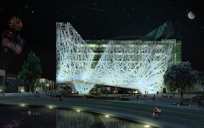 Projeto do pavilhão da Itália para a Expo Mundial de Milão