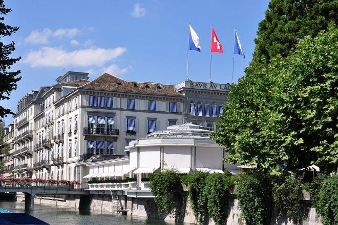 É em Zurique que fica o hotel Baur au Lac, onde Marin foi preso | Foto: Roland zh/CC