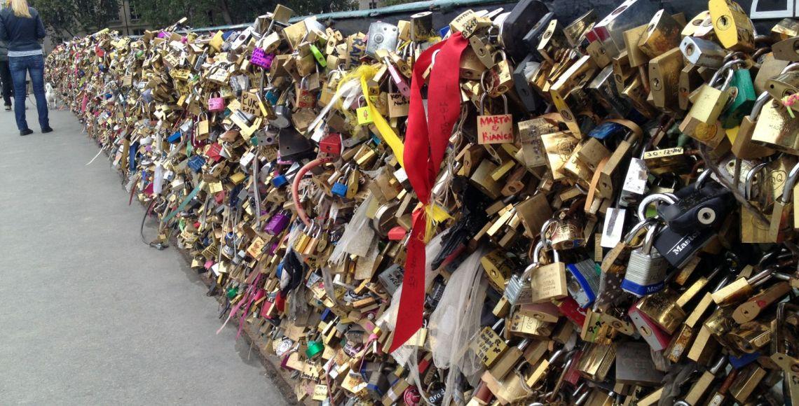 Cadeados do amor: Pont de l'Archevêché | Foto: Henrique Andrade Camargo