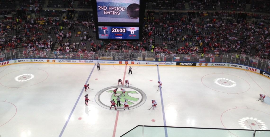 Mundial de Hockey no Gelo, no O2 Arena, em Praga: República Tcheca X Canada | Foto: Henrique Andrade Camargo
