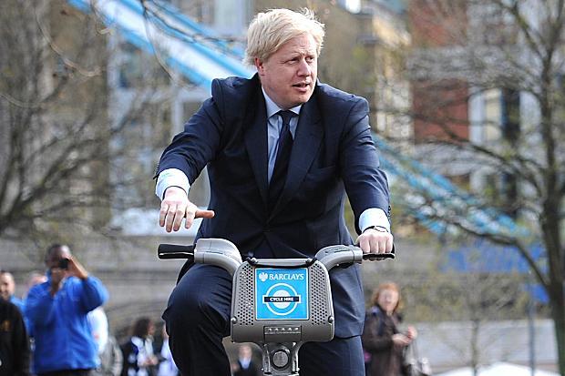 Boris Johson, prefeito de Londres: bike para ir ao trabalho