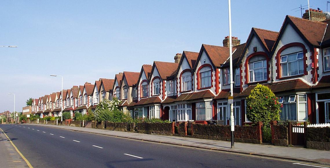 Casas ao norte de Londres | Foto: Wikimedia