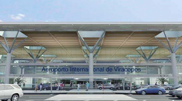 Aeroporto de Viracopos, em Campinas, fica a 100 quilômetros de São Paulo