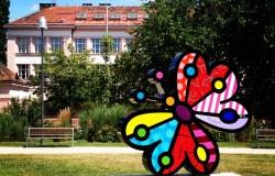 Arte de Romero Britto, em Praga   Foto: Henrique Andrade Camargo