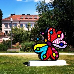 Arte de Romero Britto, em Praga | Foto: Henrique Andrade Camargo