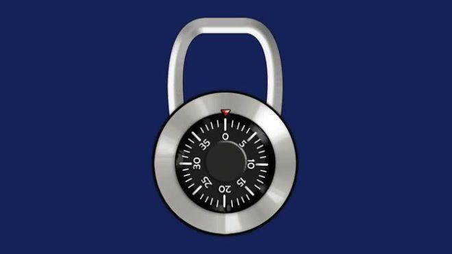 Cadeado numérico | Imagem: Wikihow