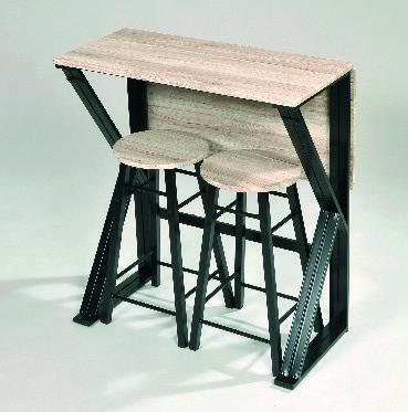 3459223564139 ensemble table haute extensible 2 tabourets