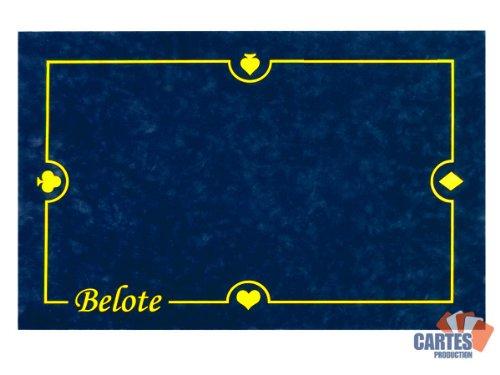 3760162607116 cartes production poker production tapis belote cartes production 60 40 cm bleu