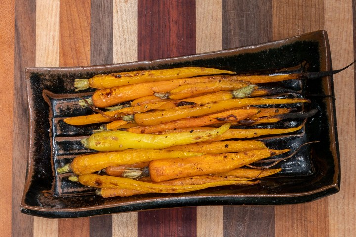 Young Roasted Carrots