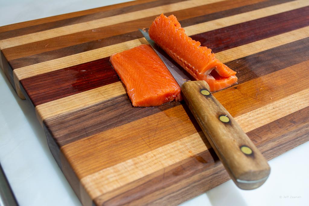 scalloping salmon